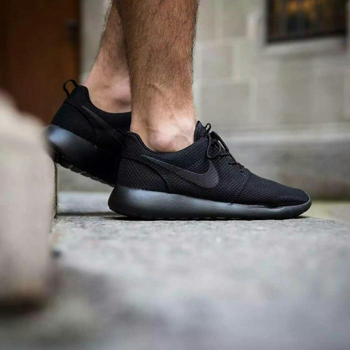 SNEAKERS SEPATU NIKE ROSHE RUN HITAM IMPORT ORIGINAL PREMIUM | 36-44 - or8aE1