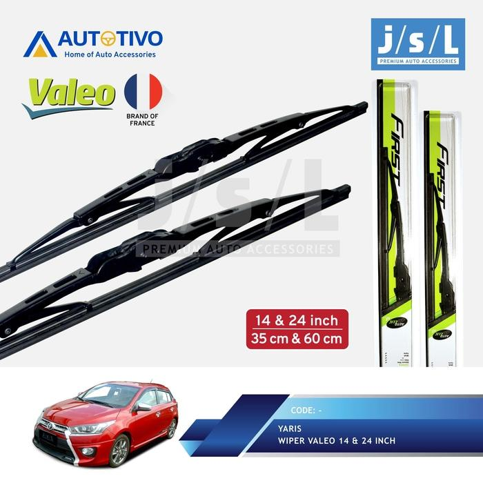 All New Yaris Wiper Mobil Valeo (2 Pcs) / Aksesoris Toyota Yaris