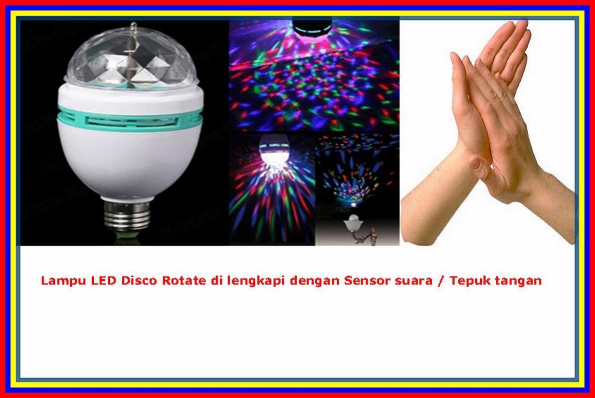 Beli Lampu Bohlam Ajaib 21w Led Emergency Sentuh 21 21watt Disco Rgb Rotate With Sensor Suara Tepuk Tangan