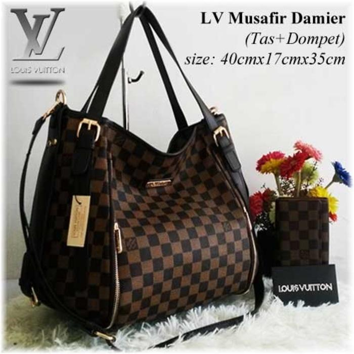 Tas Wanita / Tas Branded Import Louis Vuitton Musafir Set Dompet - LcIJLf