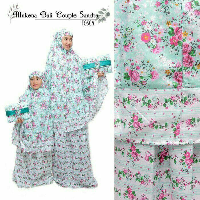 PROMO MURAH - Mukena Couple Bali Exclusive - Mukena Ibu + Anak Sandra  Tosca - Mukena Cauple Ibu + Anak Rayon Adem dan Lembut - Mukena Cauple FREE TAS Cantik - Mukena Terbaru