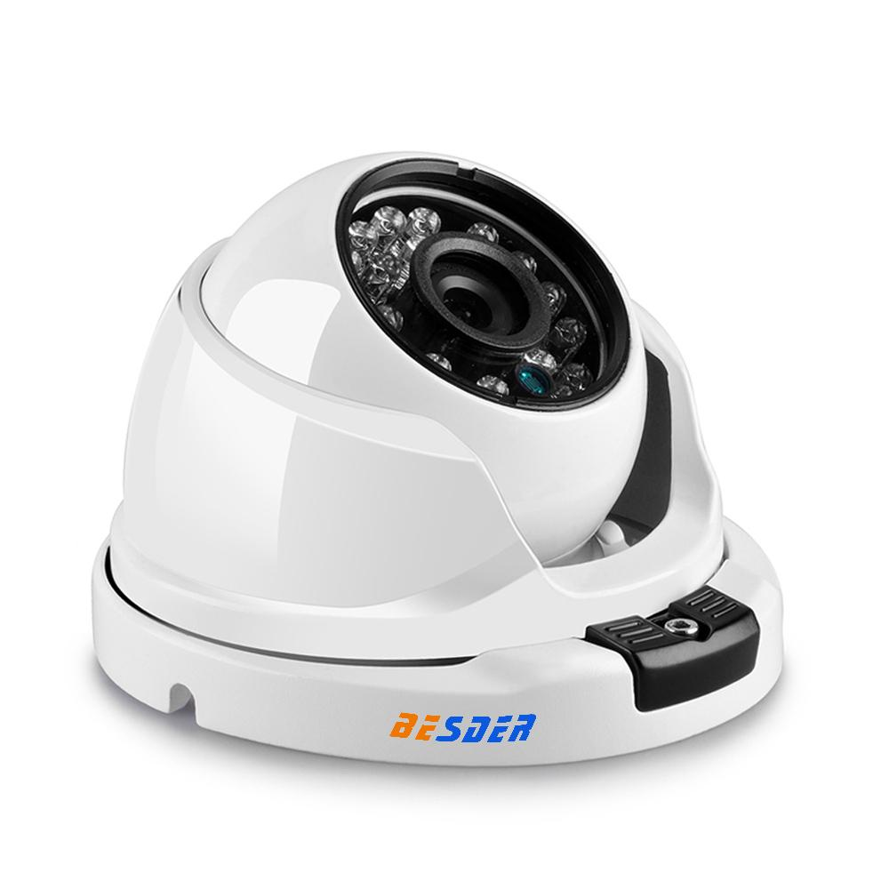 Besder Sudut Lebar 2.8 Mm 720 P 960 P 1080 P CCTV POE Kamera Dome Indoor Luar Ruangan Tahan Rusak ONVIF Inframerah Casing Logam Kamera Ip (Poe 48 V 1080 P) -Intl