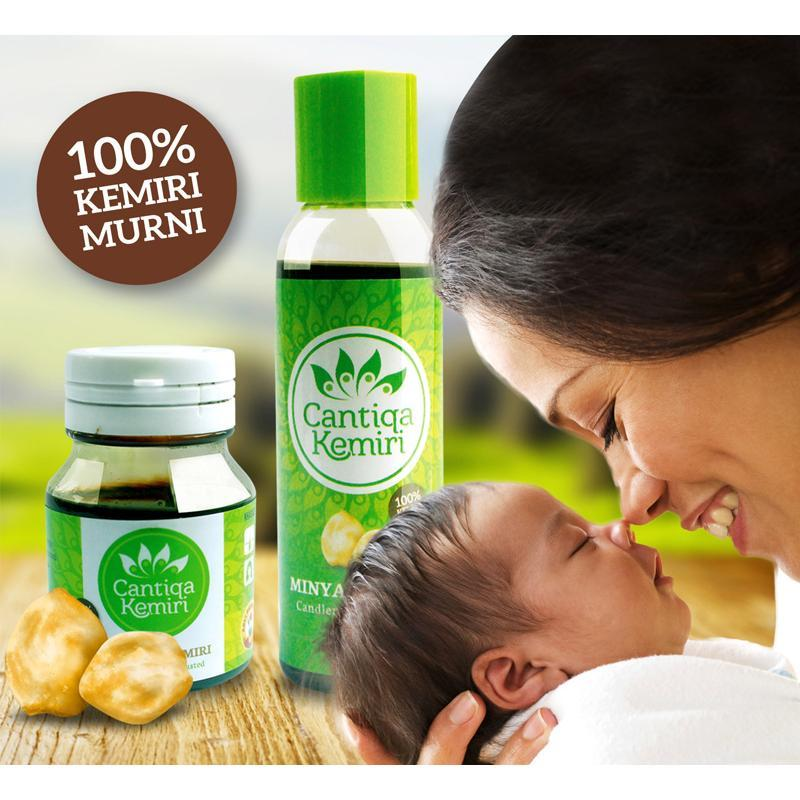 ASLI 100% ORIGINAL Minyak Kemiri Cantiqa & Saripati (Obat Penumbuh Penyubur Penghitam Rambut Bayi ...