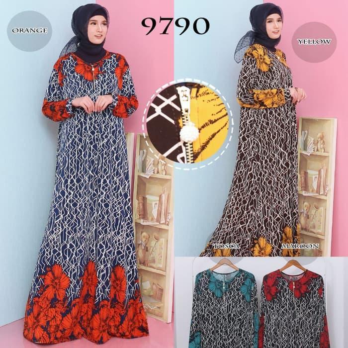 Baju Gamis Wanita Gamis Jumbo Baju Muslim Terbaru Jersey 9790