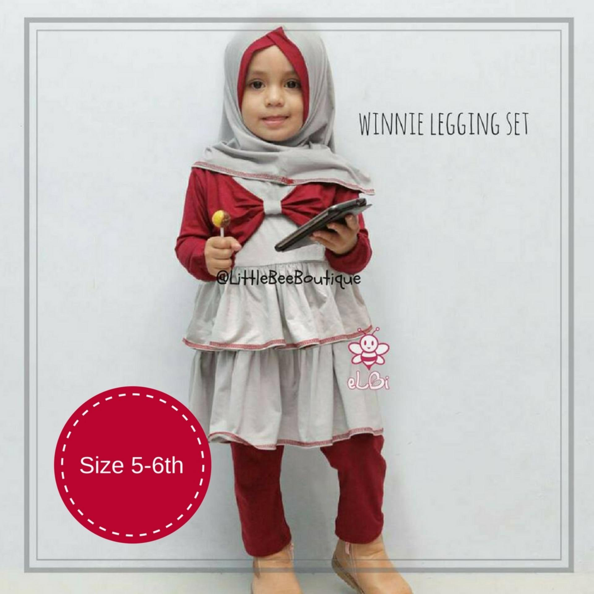 eLBi Winnie Legging Set / Baju Muslim Anak Balita / Pakaian Muslimah Bayi / Baju Bayi / Baju Muslim Bayi by Little Bee Boutique