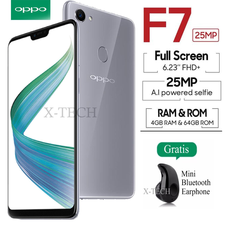 Oppo F7 - 4GB / 64GB - Layar 6.23 inch - 4G/LTE - 24MP Selfie Camera - Garansi Resmi