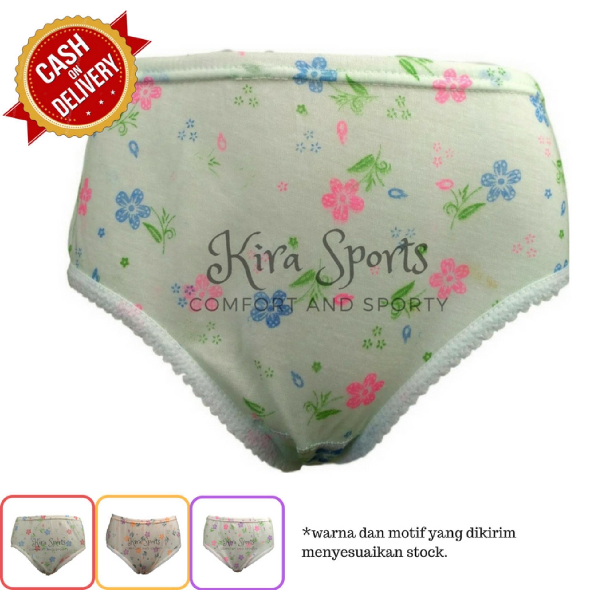 Kira Sports Celana Dalam Wanita Sexy / Bukan Merk Sorex Transparan G-string Untuk Ibu hamil / Aneka Motif Bunga Renda Seksi Terbaru/ Dalaman Perempuan Katun Dewasa dan Anak Murah ANK701 - Bisa COD