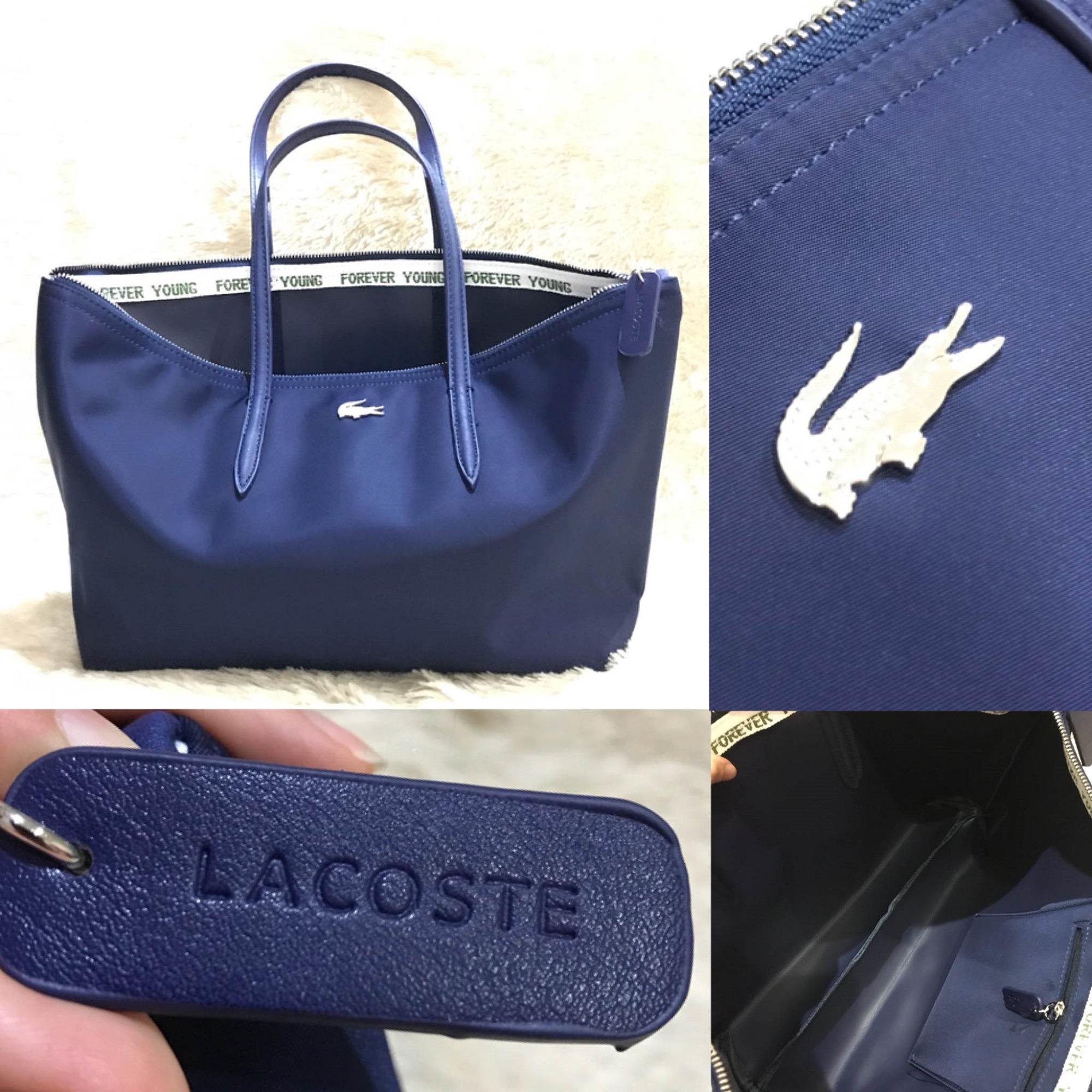 tas wanita grosir import murah branded, LACOSTE MOTIF IMPORT