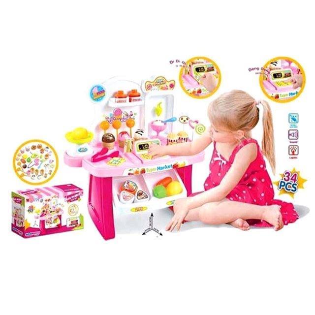 Best seller!! Minimarket ice cream playset pink