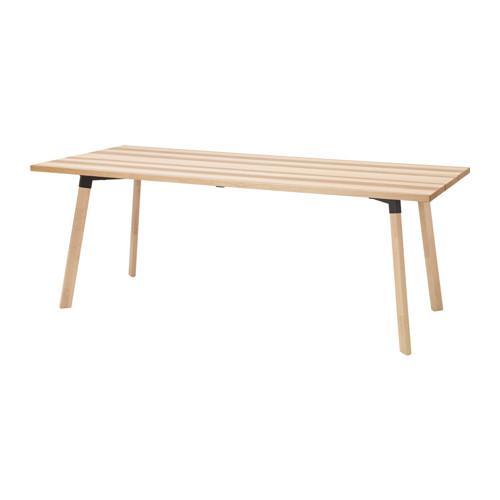 IKEA YPPERLIG Meja serbaguna bahan kayu ash ukuran 200x90x74 cm