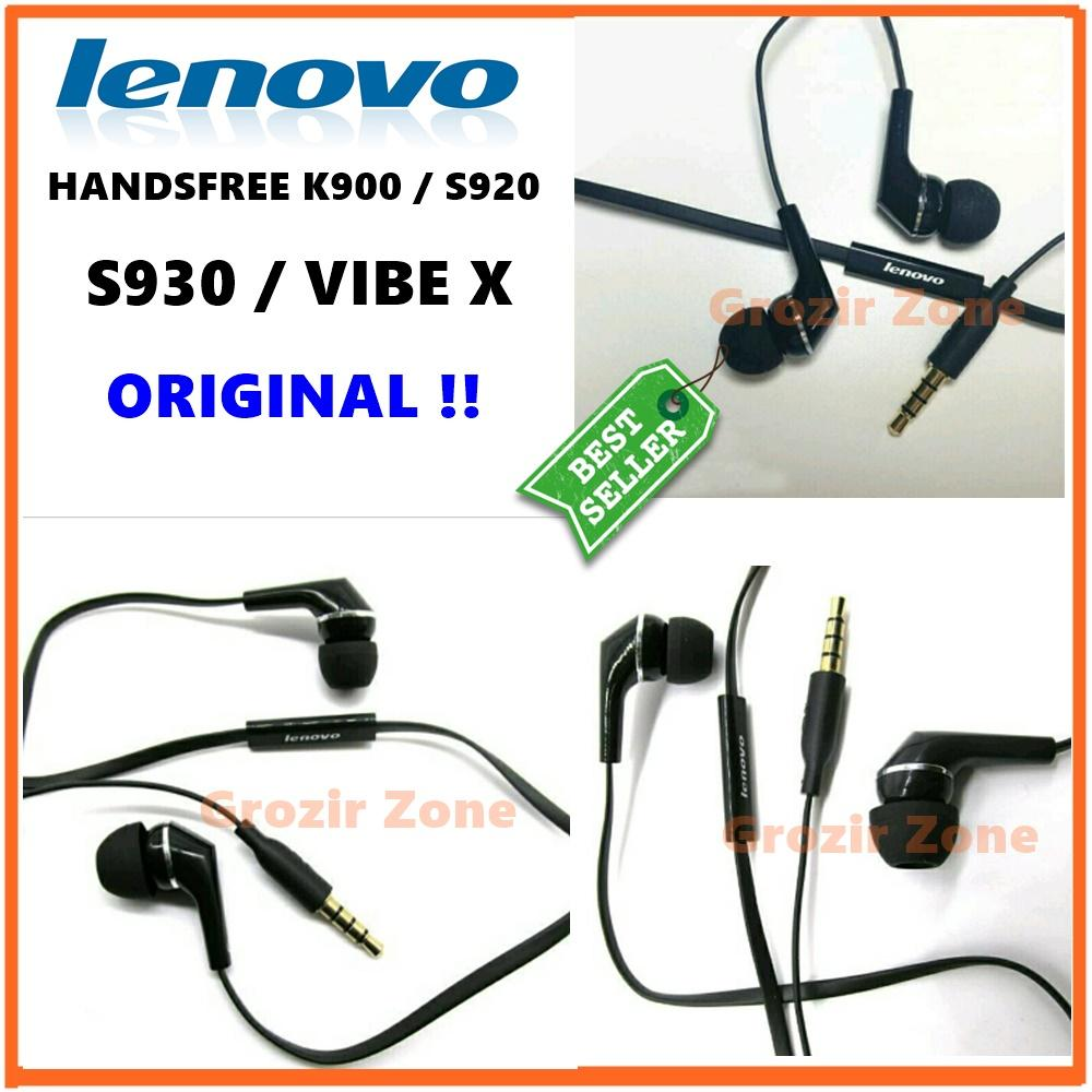 Lenovo Handsfree / Headset For Lenovo K900 / S920 / S930 / Vibe X Type IN EAR Stereo 3.5MM Original - Hitam ( Grozir Zone )