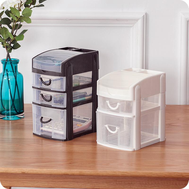 ... Plastik Transparan Tipe Laci Meja Kotak Kosmetik-Internasional - 3 ...