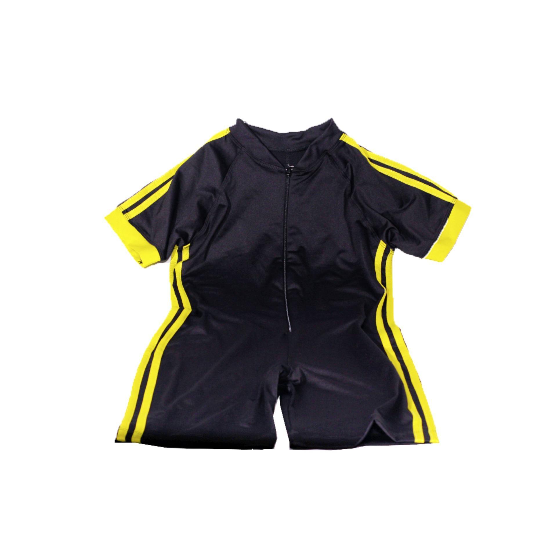 Mall BTM Kids - Diana Baju Renang Anak Lengan Pendek Harga Murah - Coklat Tua