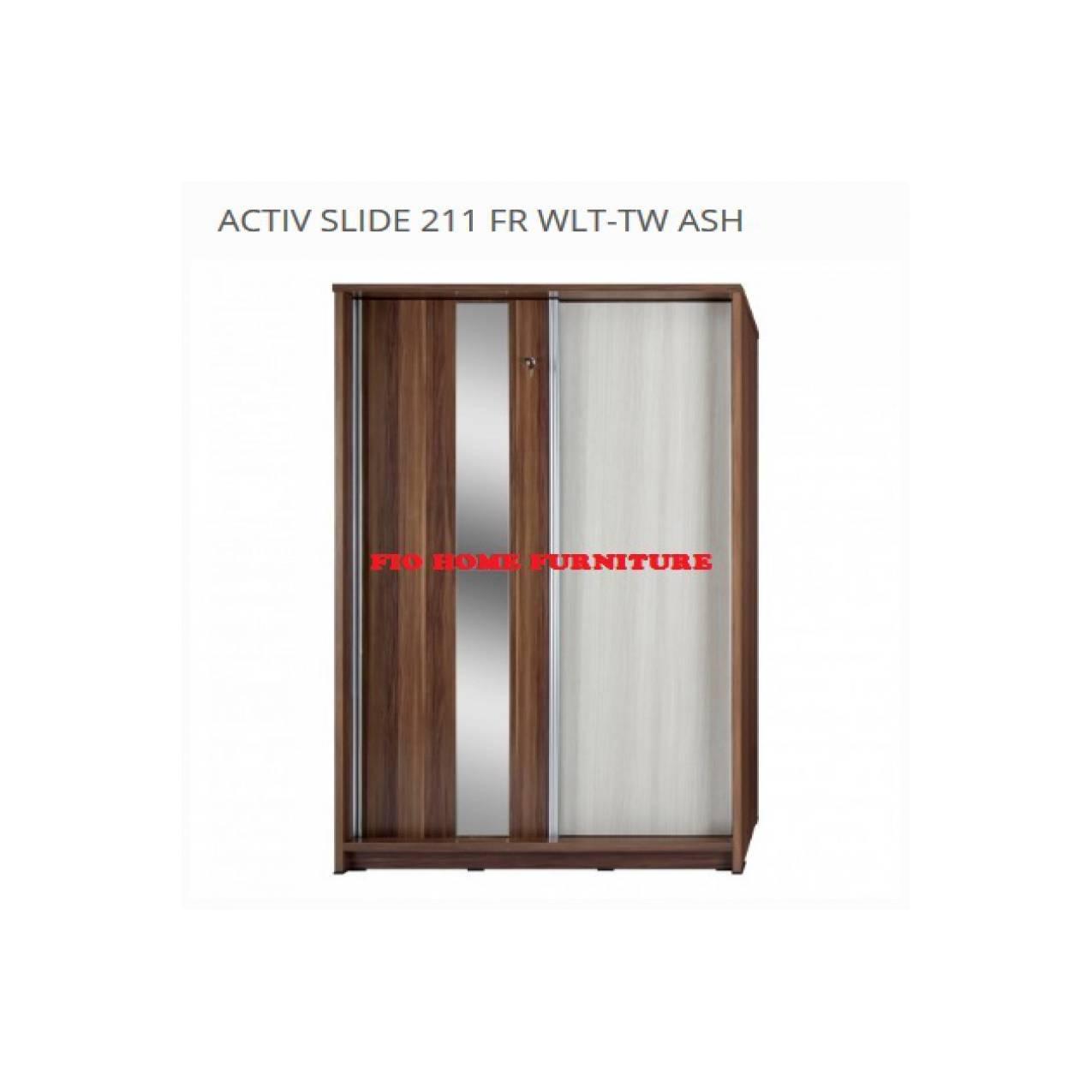 LEMARI PAKAIAN ACTIV LP 211 SLIDE FRENCH WALNUT