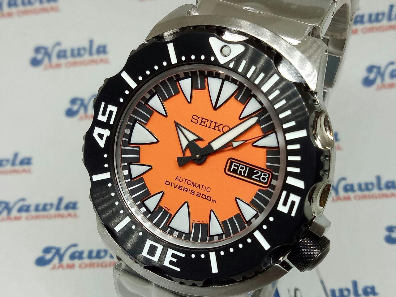 Seiko Male Orange Dial Silver Strap Srp483k1 Intl Daftar Harga Chronograph Jam Tangan Stainless Steel Sks521p1 Automatic Srp315k2 Monster Diver Pria Srp315 3