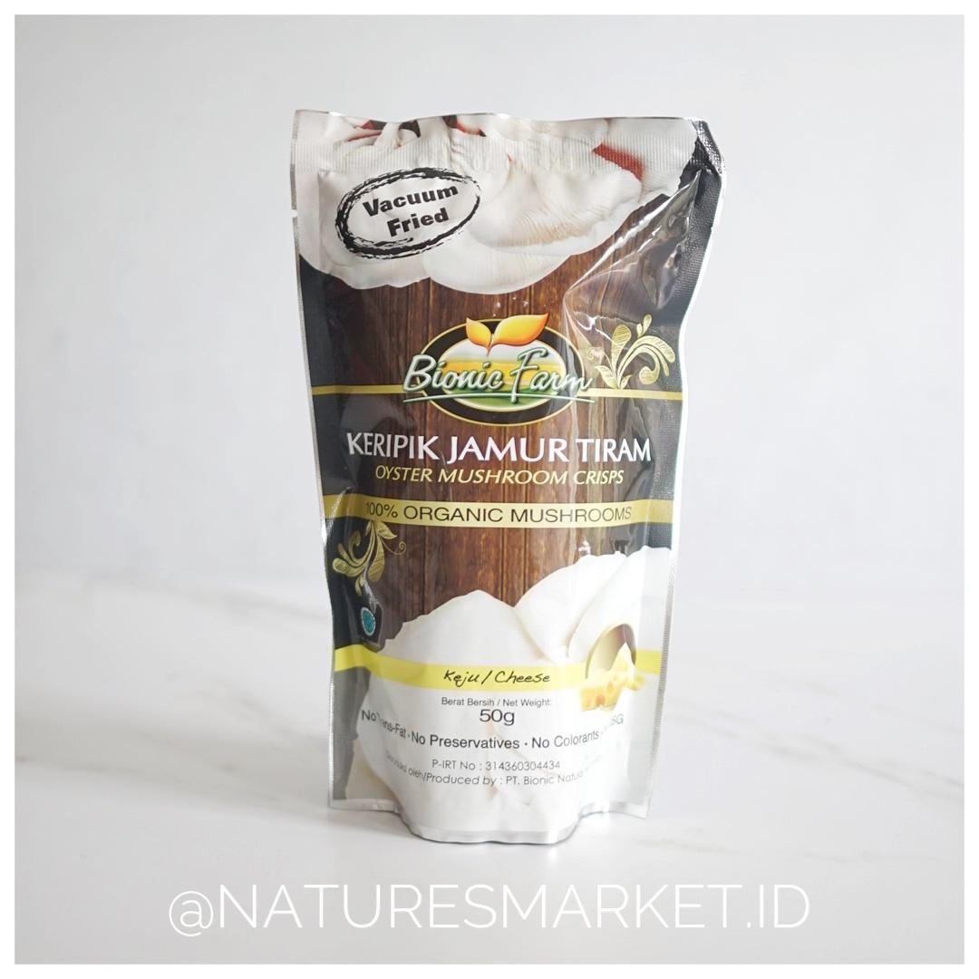 Naturesmarket.id - BIONIC FARM KERIPIK JAMUR TIRAM (KEJU)