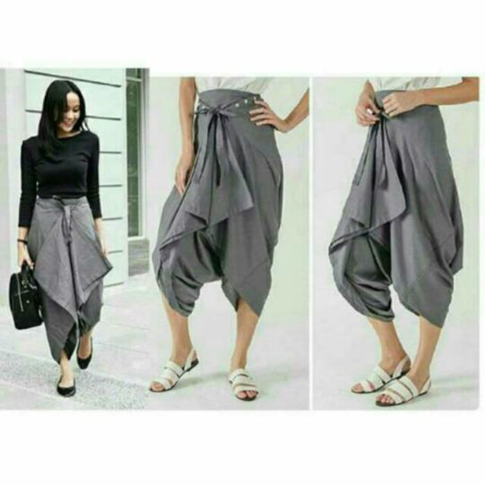Celana Rok Sakura Jogger /Zaskia Bahan Cewe Wanita Terbaru Termurah - 9Rbzsp