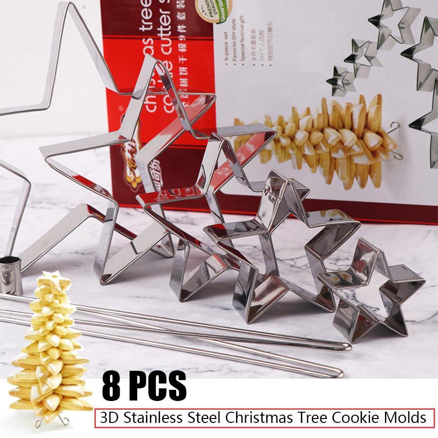 Rp 121.221. Stainless Steel 3D Kue Cetakan Cutter Pohon ...