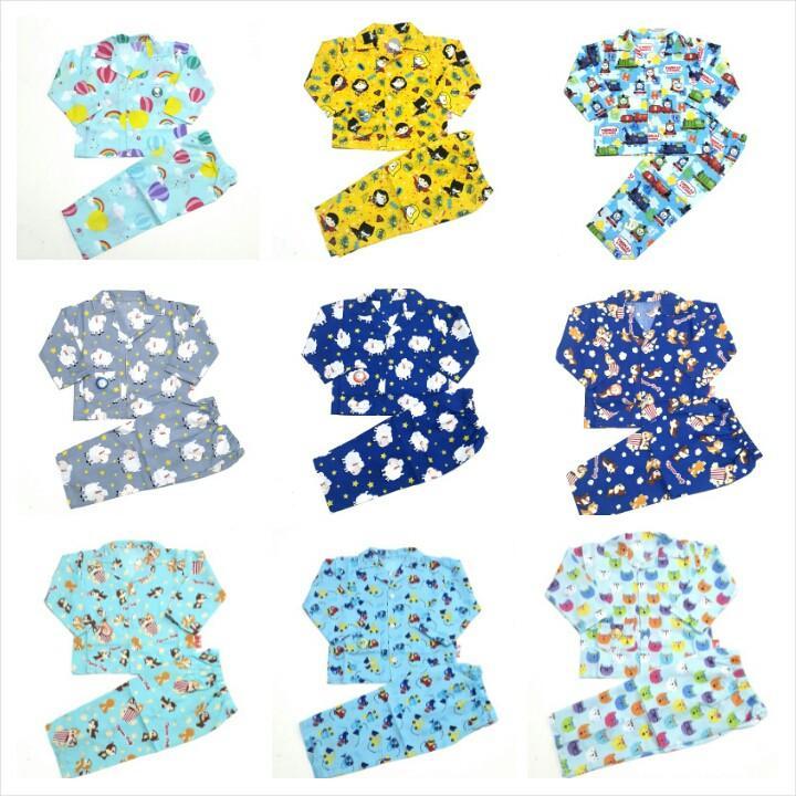 Grosir Piyama Anak Katun Catra  Baju Tidur Anak Umur 1 Tahun