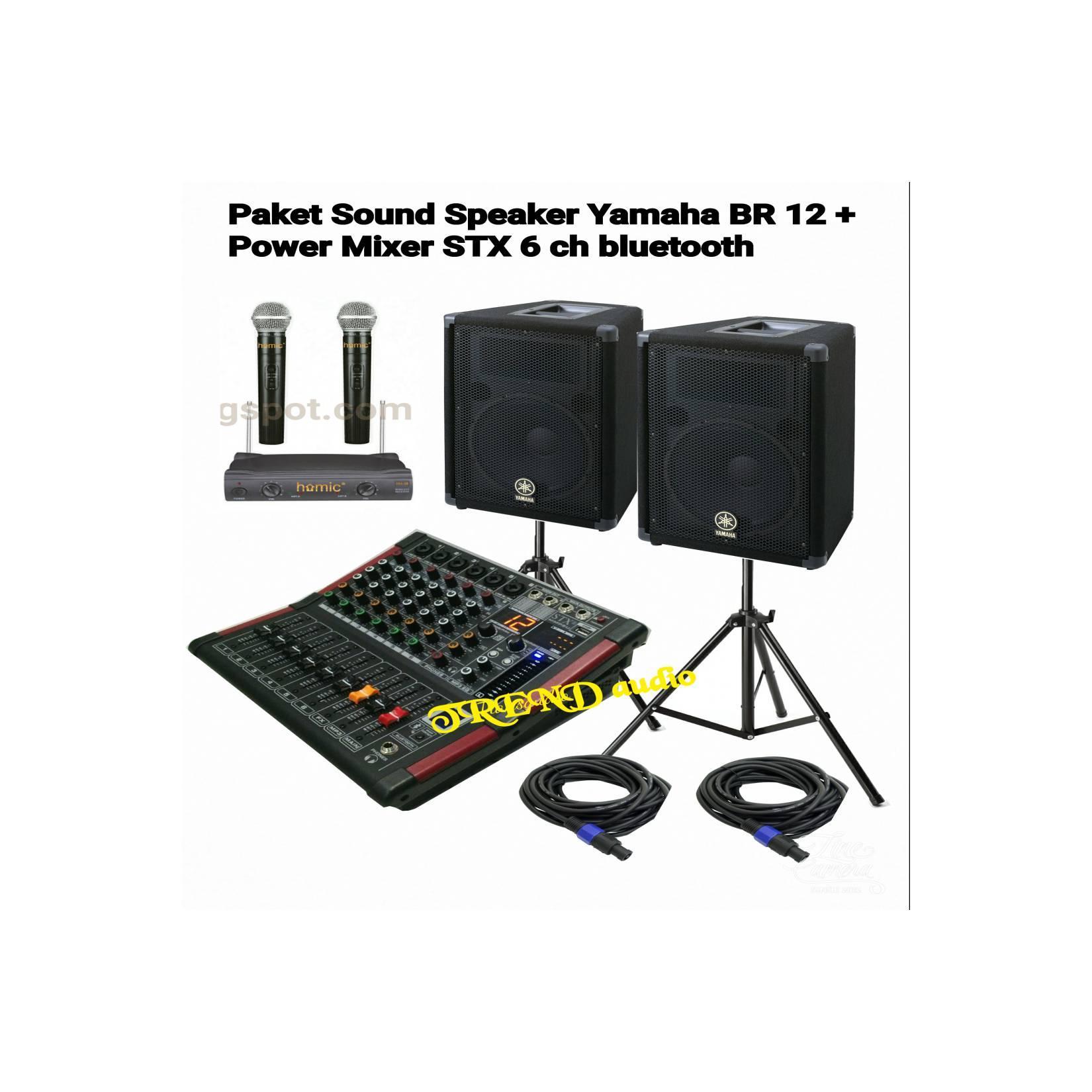 paket karaoke YAMAHA + MIXER STX 6 CHANEL, Bluetooth (ORIGINAL)