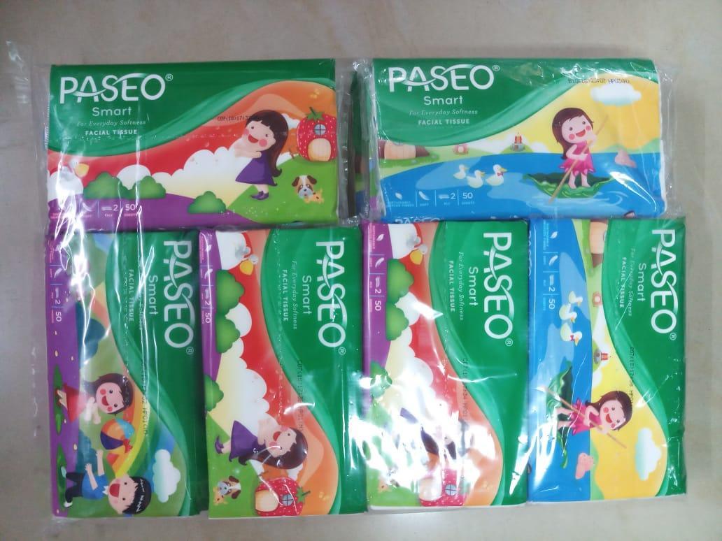 Paseo Baby Pure Soft Facial Tissue Softpack 50 Sheets 3 Ply Murah Original Tisu Tessa Wajah 250 2 8 Pcs