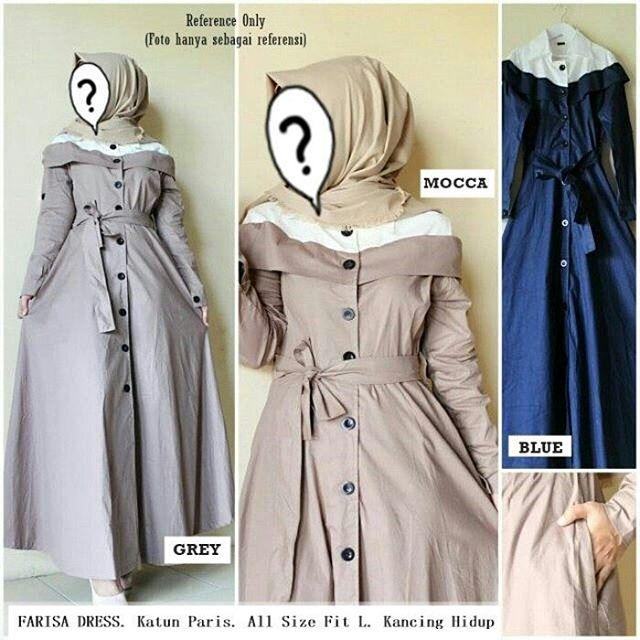 Farisa Dress by Nasywa Collections | Gamis Casual | Gamis Terbaru Harga Murah