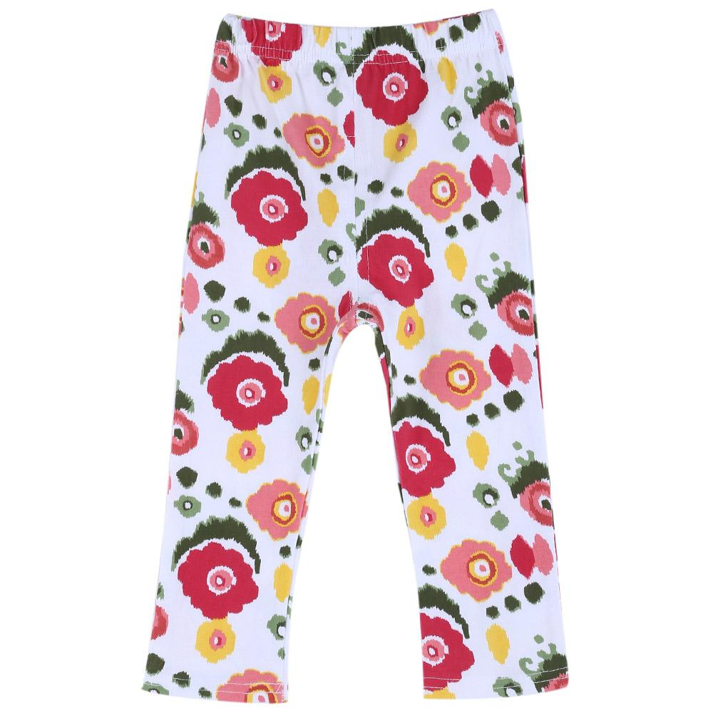 Infant Baby Girl Child Sweet Print Elastic Long Pants Leggings-Flower(18m).