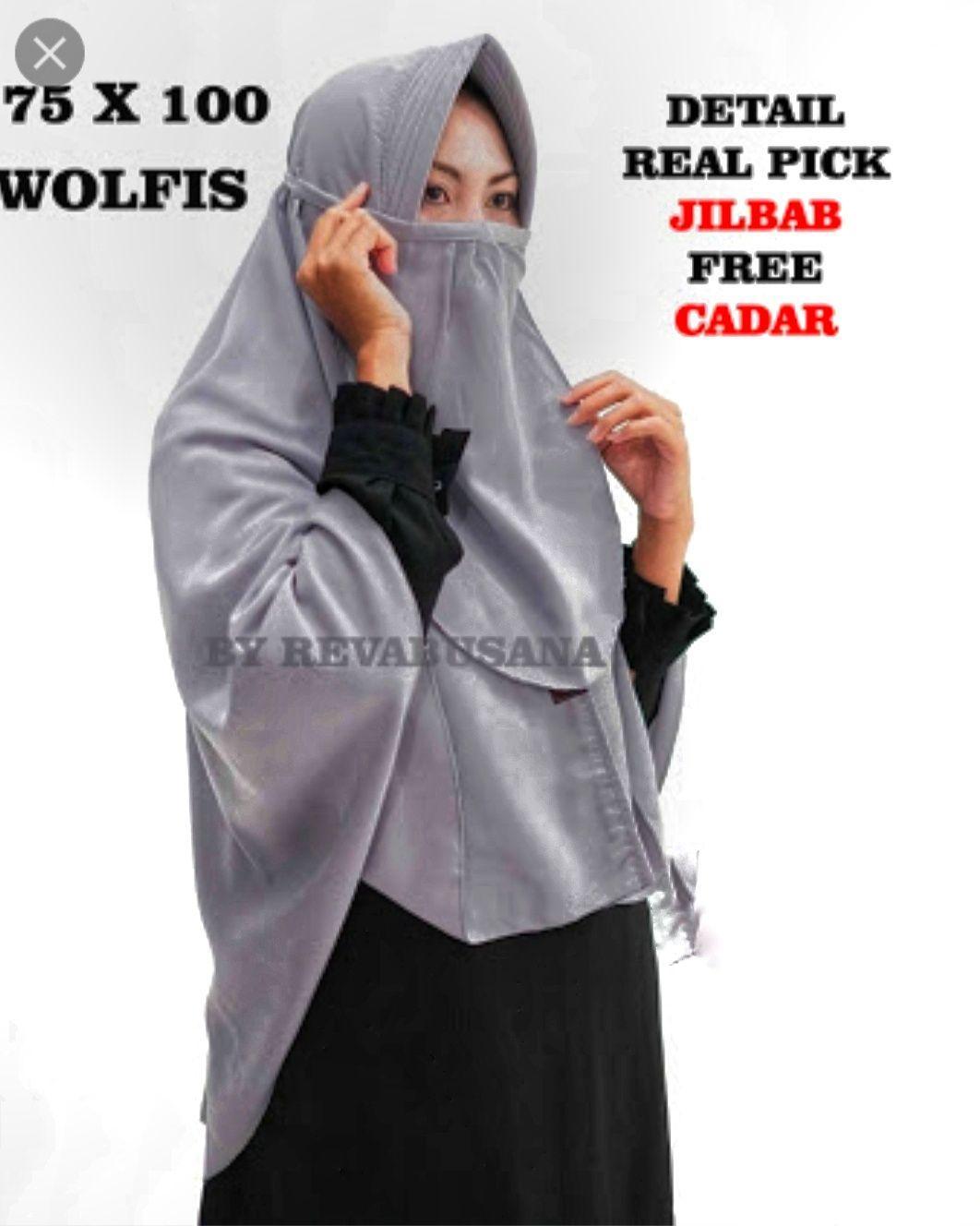 Sosialhijab Khimar Jumbo Pet size L / Jilbab Kerudung Syar'i + Free Cadar