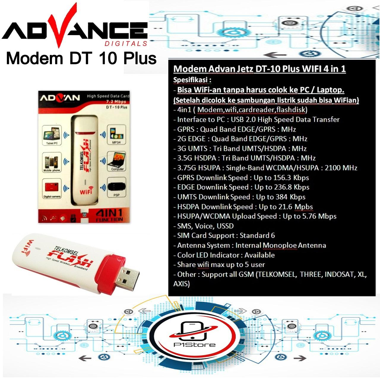 Advan Modem Jetz DT-10 Plus WIFI 4 in 1