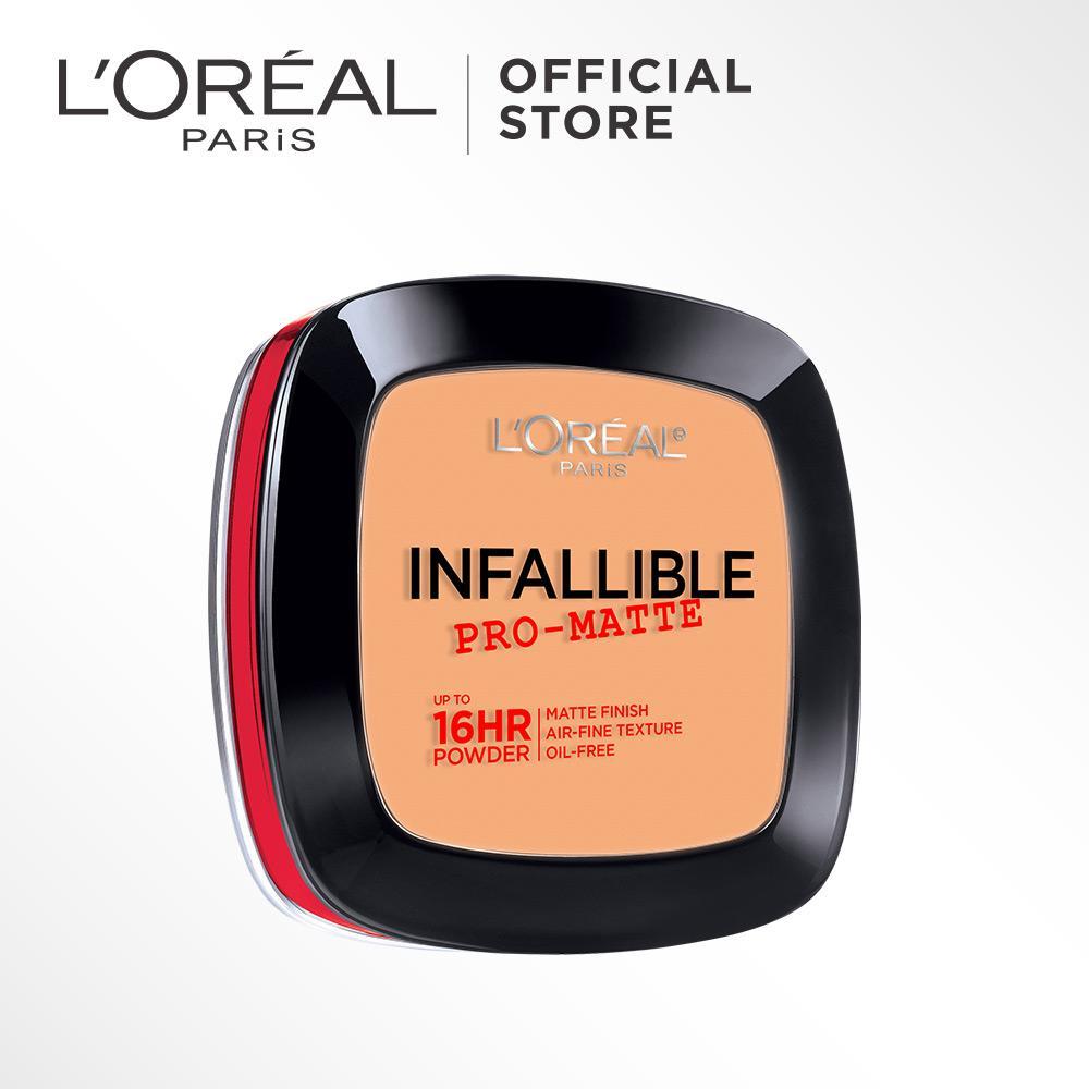 L'Oreal Paris Infallible Pro Matte Powder - 600 Golden beige by L'Oreal Paris Makeup |  Loreal  Padat / Compact Powder Matte For Normal to Oily Skin / Kulit Berminyak Long Lasting Tahan Lama Flawless