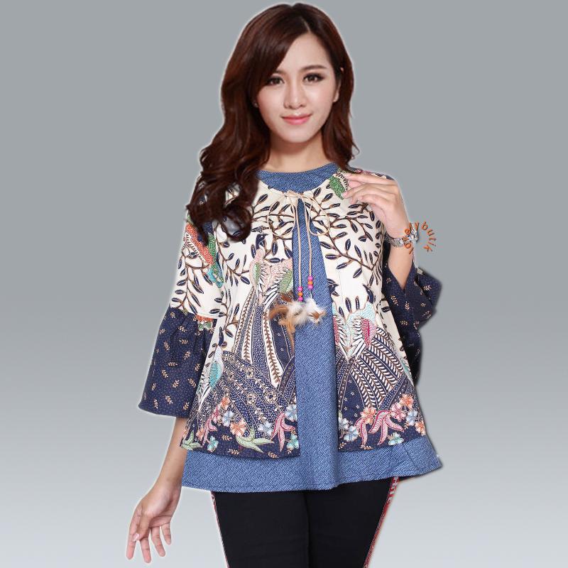 Lovely Chelsy Batik Wanita/Blouse Wanita/Baju Muslim/Tunik Wanita/Batik Wanita/Atasan Batik Wanita/Blouse Terbaru