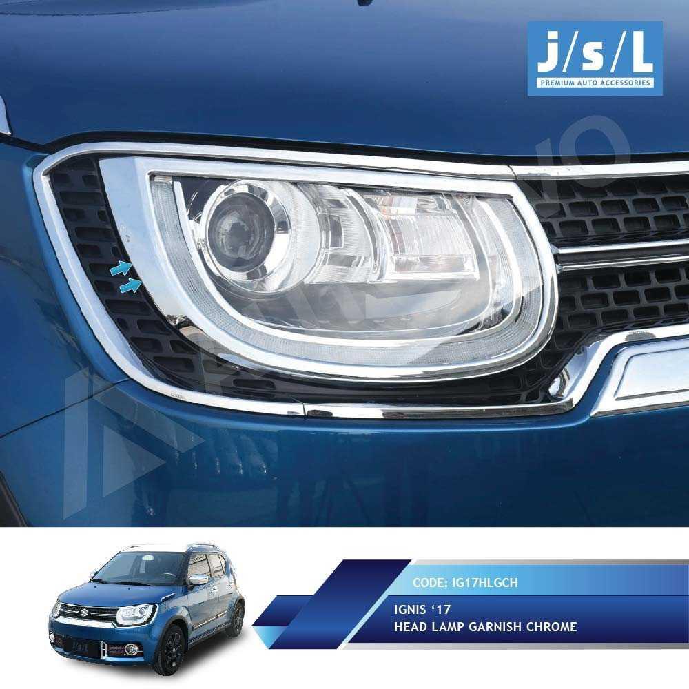 Suzuki Ignis Garnish Lampu Depan Krom JSL / Head Lamp Garnish Chrome