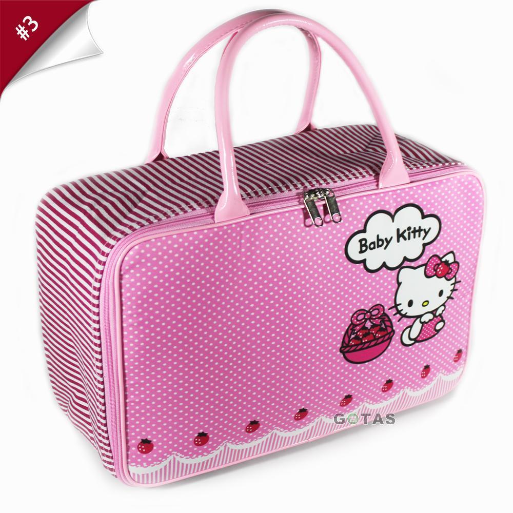 Travel Bag Koper Tas Kanvas Karakter Hello Kitty Ukuran Besar