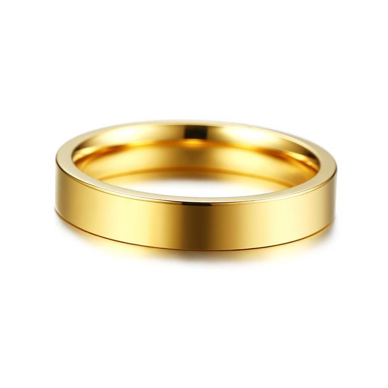 Vnox Ukiran Lokasi GPS Garis Bujur dan Lintang Info Band Pernikahan Cincin untuk Wanita 3 Warna Baja Anti-karat Jari Cincin-Intl