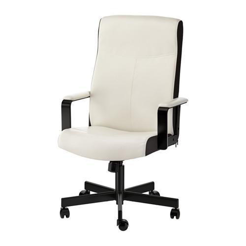IKEA MILLBERGET Kursi kantor putar elegan Kimstad putih
