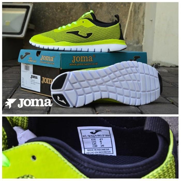 Sepatu Bandung Produk Sporty Pria Murah Sneakers Kets Kasual Men Laki Joma Running Made in Indonesia