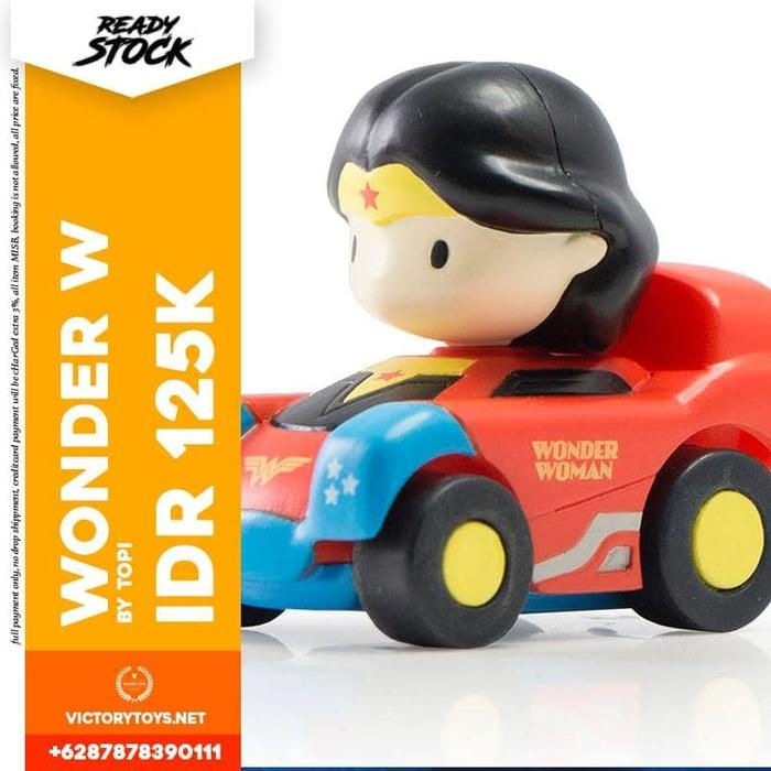 BEST SELLER!!! DC WONDER WOMAN SPINNING CAR BY TOPI - UoYMfZ