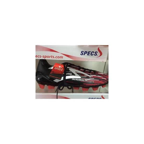 SEPATU BOLA SPECS LIGHTSPEED FG BLACK RED 2016 NEW MODEL ORIGINAL 100% - EWTQEG