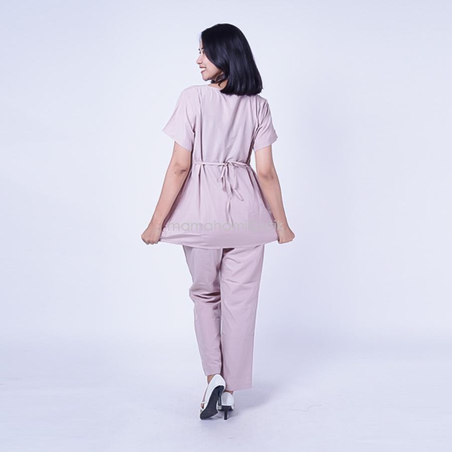Ning Ayu Setelan Hamil V Renda Rose - STD 73 / Baju Hamil Muslim / Baju hamil Kerja / Baju Hamil dan Menyusui / Baju Hamil Lucu / Baju Hamil Panjang / Baju Hamil Modern / Baju Hamil Wanita / Baju Hamil Kerja Muslim