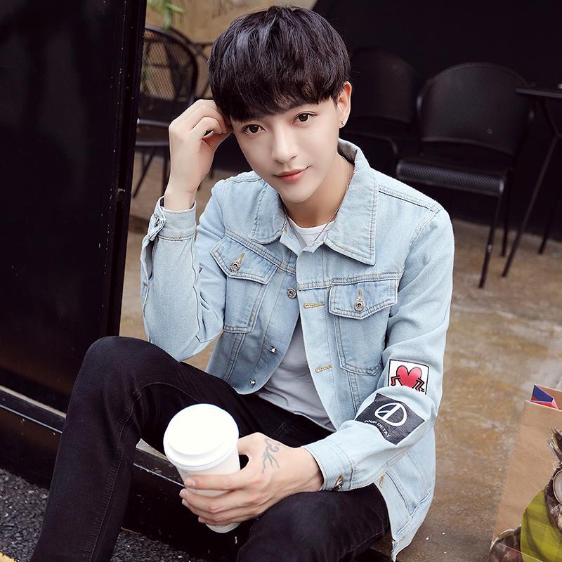 557cfcfb273 Spring Korean Style Men s Denim Jacket man Slim Fit Vintage Cool WorkWear  Cowboy Clothing Coat man