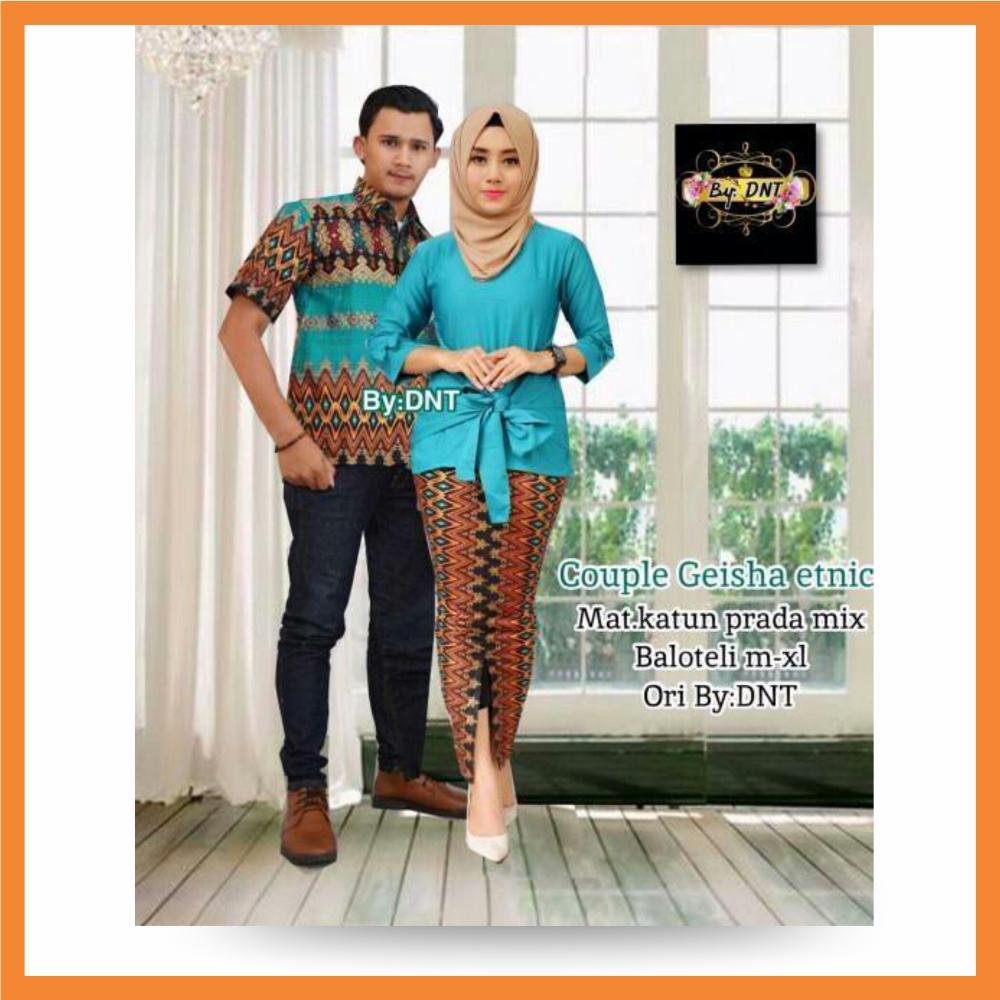 Batik Couple / Batik Sarimbit / Baju Kondangan / Batik Keluarga / Batik Rabbani Set / Batik Muslim Original Pengrajin