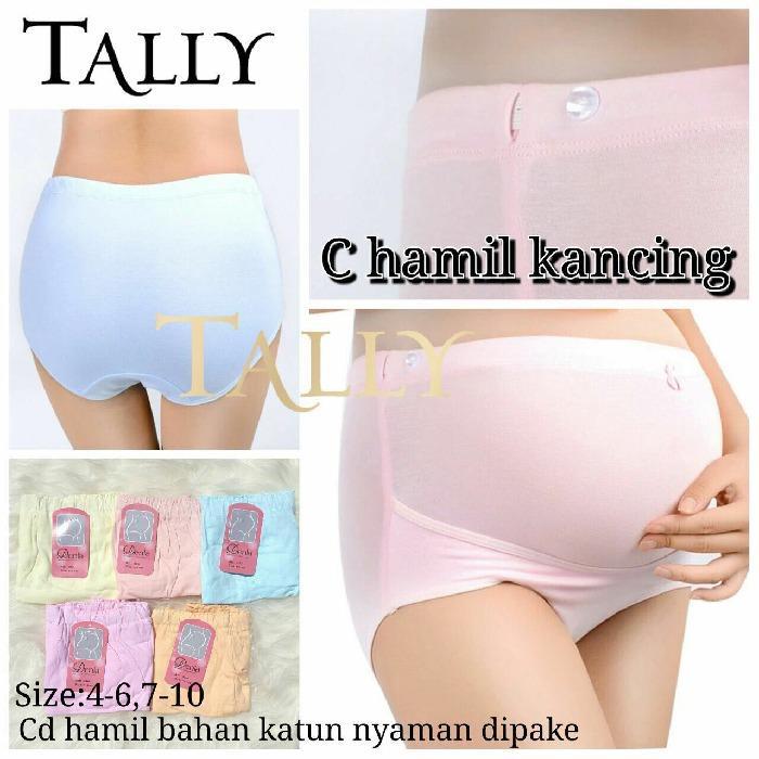 Tally Celana Hamil Kancing - Maternity Panty merk Tally Denla - 3pc