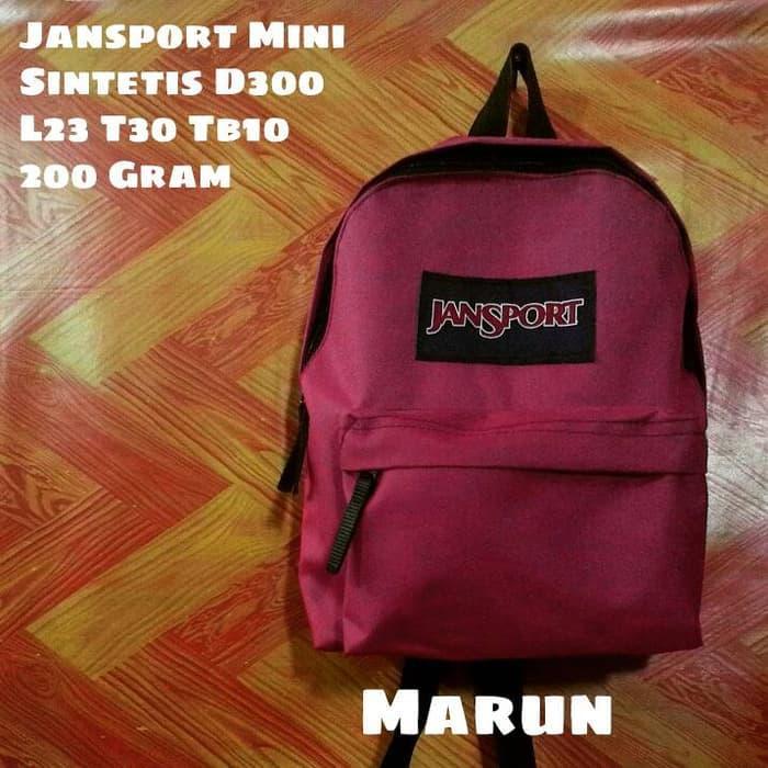 jansport mini maroon