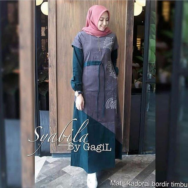 Baju Wanita Baju Gamis Baju Muslim Syabila Maxi Dress