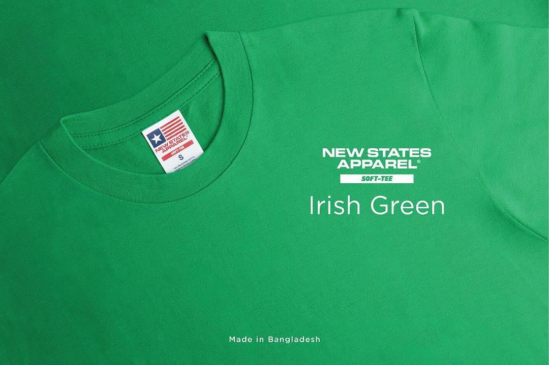 New States Apparel Softstyle 3600 - NSA Kaos Polos Cotton Combed 30's Built-Up Tanpa Jahitan Sampin