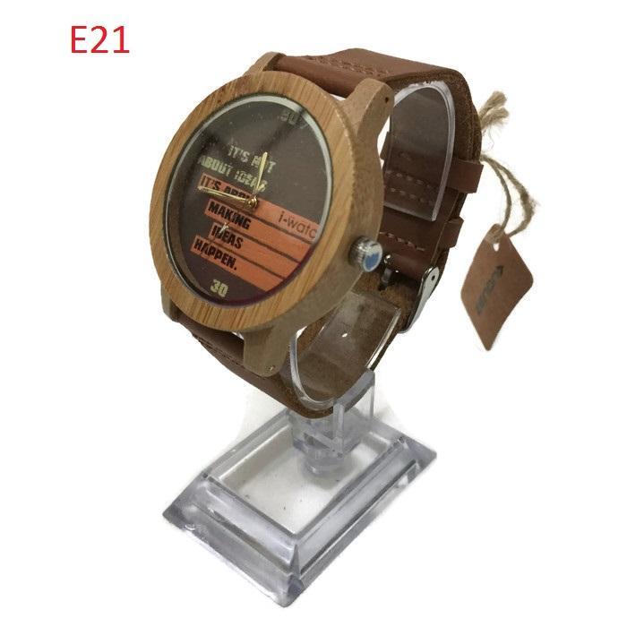Original ZENON Premium Real Bamboo Waterproof Wooden Quartz Watch - E21 - Men - Jam Tangan Kayu Uni