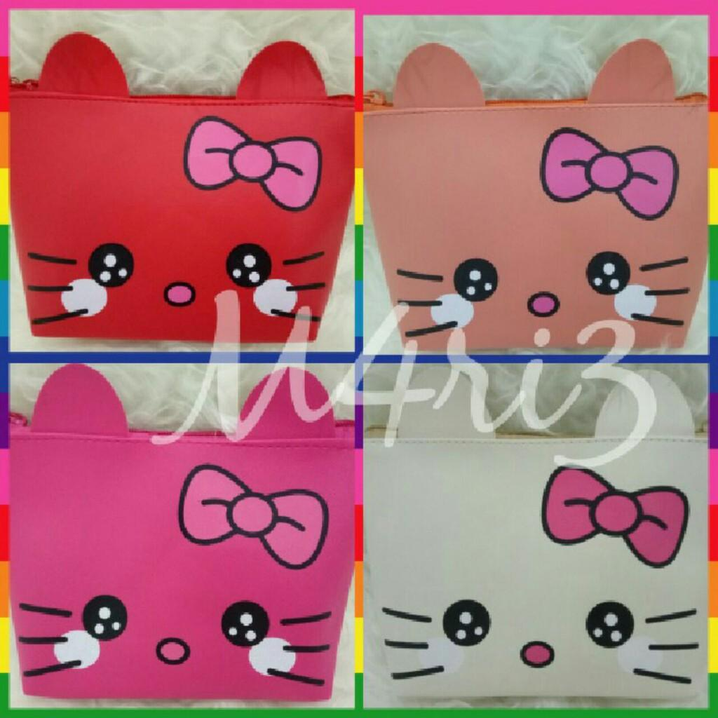 Buy Sell Cheapest Cute Mini Kitty Best Quality Product Deals Tas Kosmetik Bag Pouch Dompet Sj0002 Cutetas Hk
