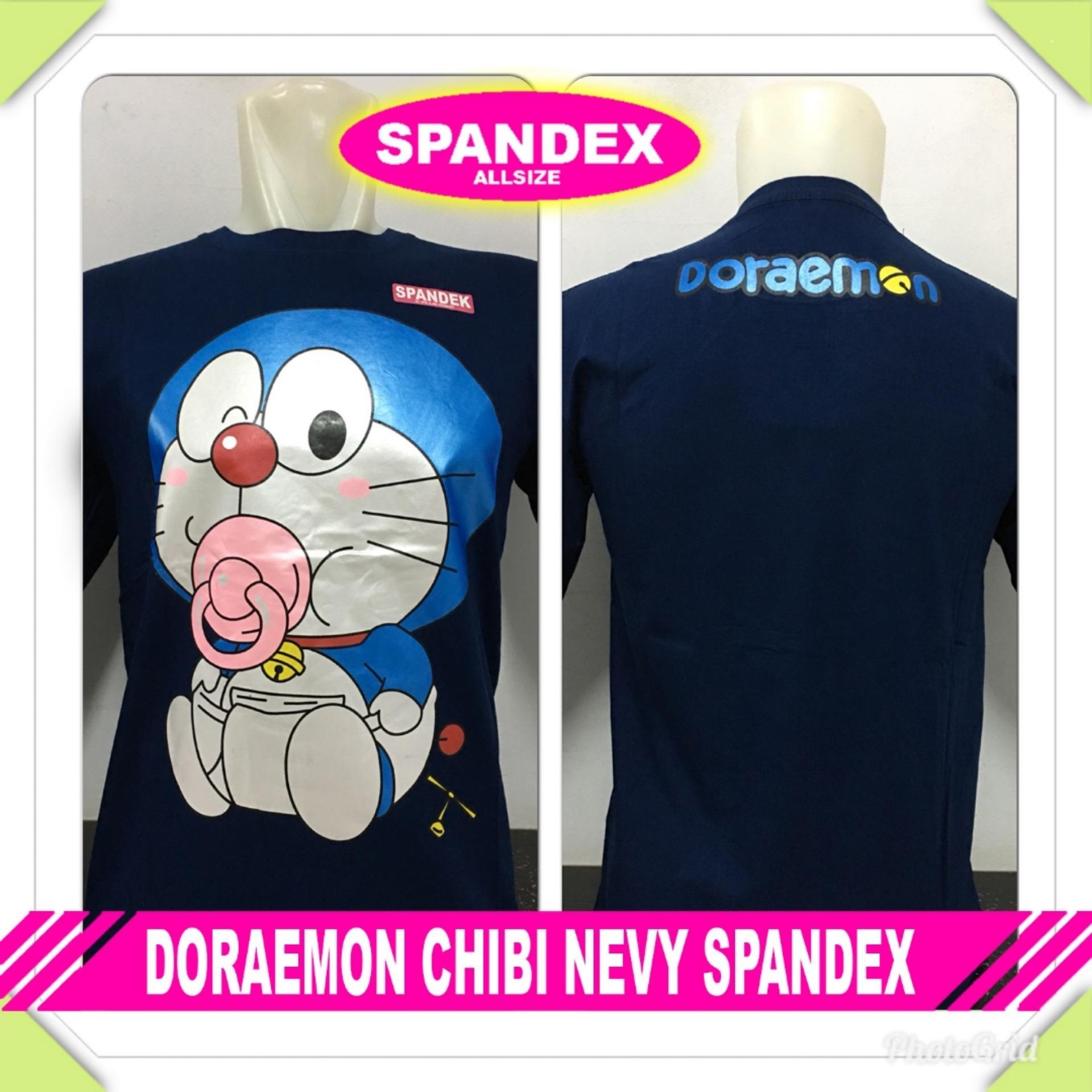Gracestore - Kaos T-shirt Distro Premium Doraemon Chibi - Navy