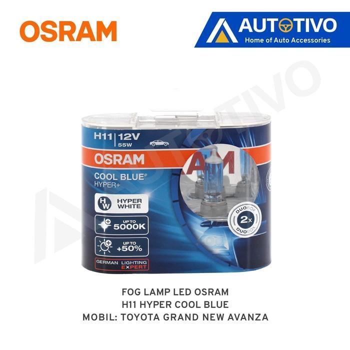 Grand New Avanza Osram Lampu Kabut (Fog Lamp) Hyper Cool Blue H11