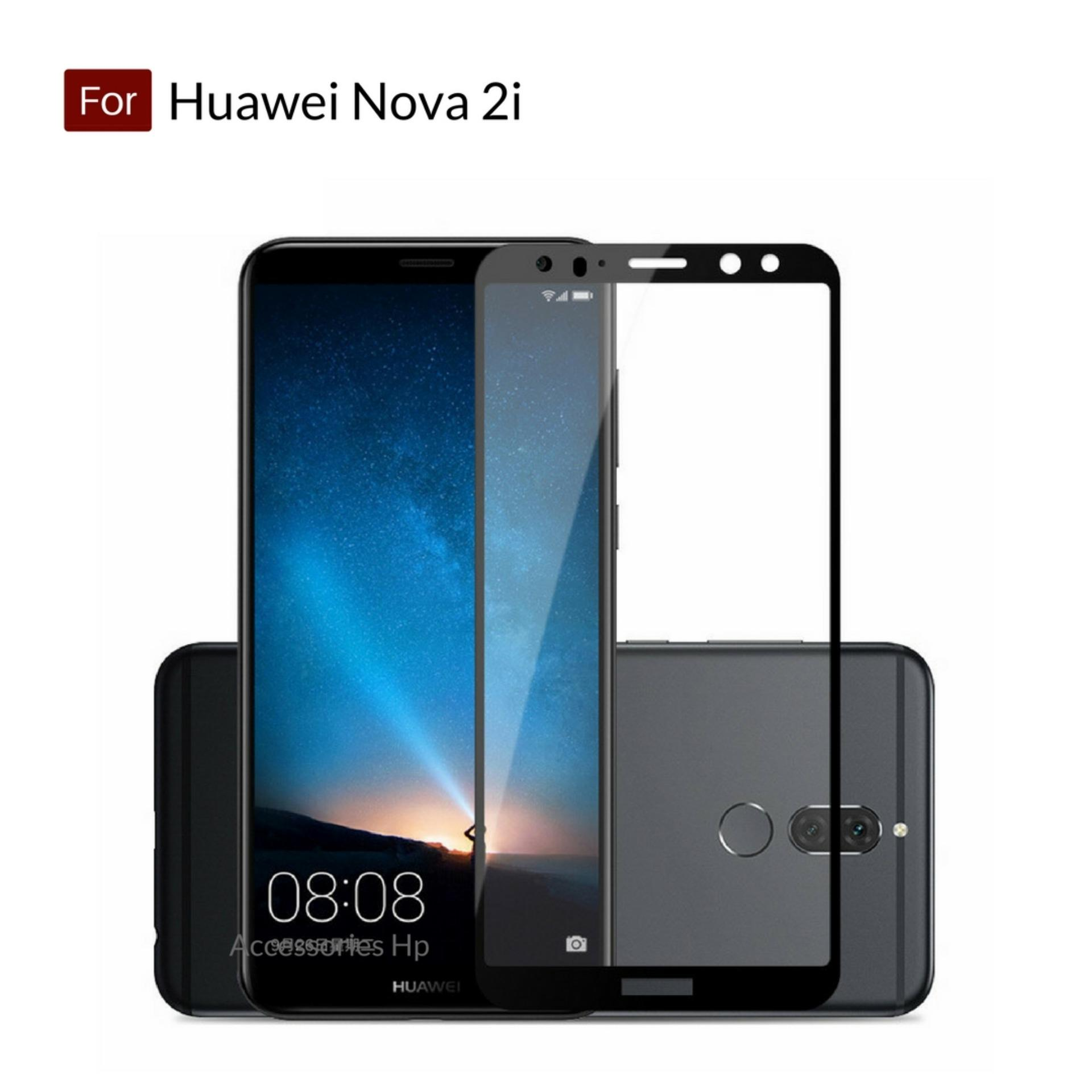 Accessories Hp Full Cover Tempered Glass Warna Screen Protector for Huawei Nova 2i - Black